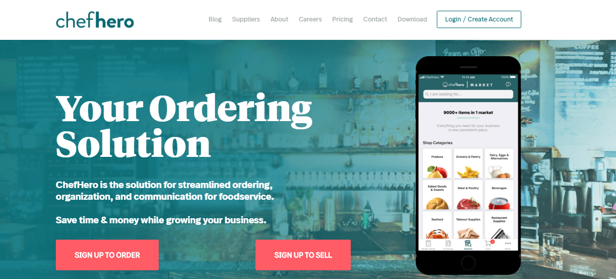 ChefHero-b2b-food-marketplace